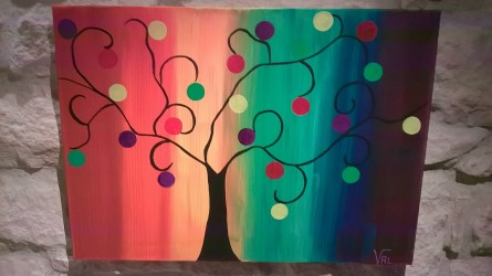"""Tableau """"l'arbre à boules"""""""